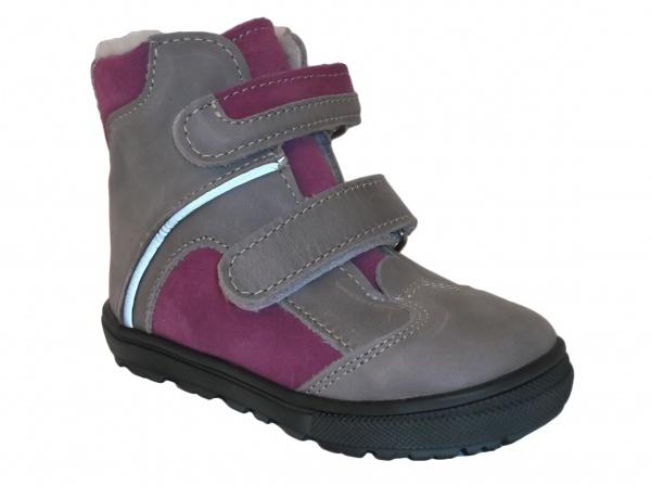 2f227d1332ad2 JONAP - J055/M sivá/fialová, dievčenská zimná obuv | Detská obuv ...