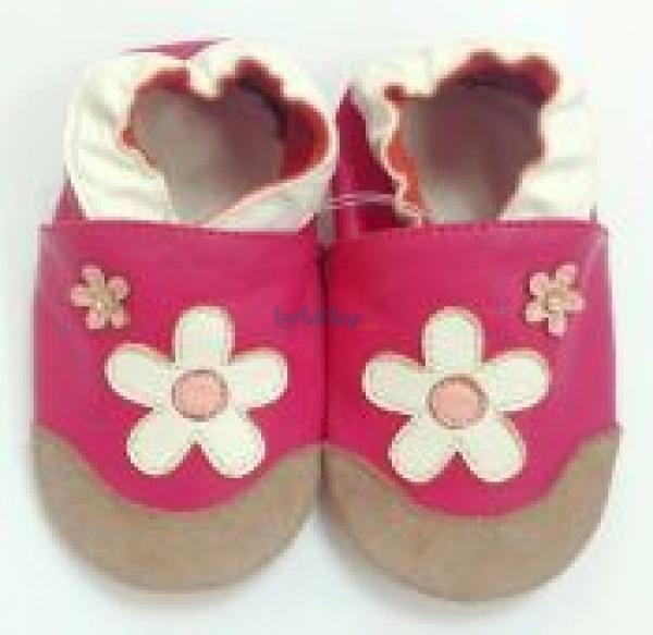 Zvětšit TAPTAPI kožené topánočky - kytičky Daisy deeeb15799